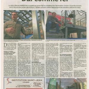 Article dna alsace du 16 janvier 2016 salon habitat d co for Salon habitat selestat