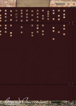 gamme palissade alu mod le polpulus grillages wunschel. Black Bedroom Furniture Sets. Home Design Ideas