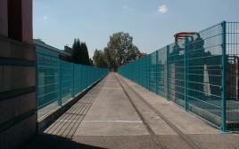 Cloture en panneaux rigide double fils bleu